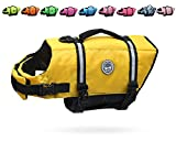 Vivaglory Ripstop Dog Life Jacket, Reflective & Adjustable Preserver Vest with Enhanced Buoyancy &...
