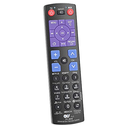 Universal Remote Control fit for Roku Player + 12 Shortcuts【YouTube Hulu Amazon Netflix etc】 to Control TV Soundbar Receiver All in One (Fit for Roku 1 2 3 4 + Express Ultra)【NOT for Roku Stick 】