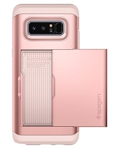 Spigen Samsung Galaxy Note 8 Hülle, Slim Armor CS Kartenfach Handyhülle Card Holder Schutzhülle für Samsung Note8 Hülle Rose Gold (587CS22074)