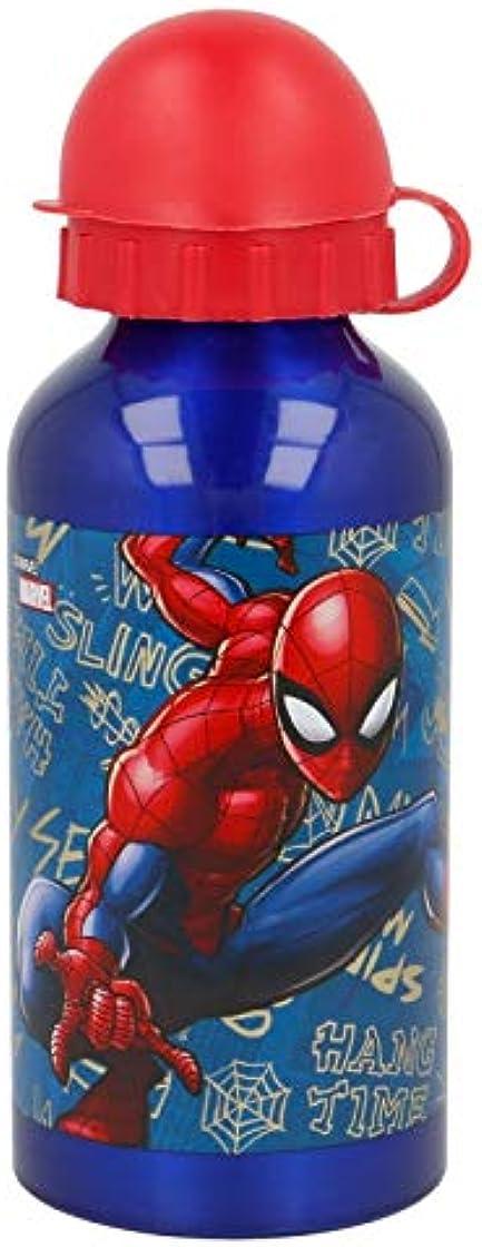 Borraccia spiderman in alluminio per bambini 400ml 37934