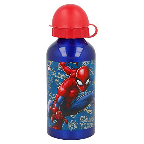 Marvel Borraccia in Alluminio per Bambini 400Ml Spider-Man