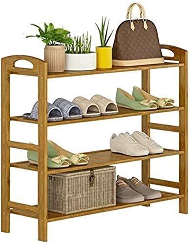 QZMX Estante de Zapatos Zapatero Zapatero de bambú Madera contrachapada Zapatero, Simple Storage for los estantes del Zapato, Gabinete for Uso en el hogar Estante (Size : 4 Levels: 50X26X68 cm)