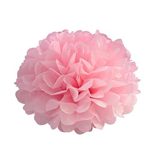 5st 6 '' - 12 '' tissuepapier pompoms bruiloft decoratieve papieren bloemen bal baby shower verjaardagsfeestje decoratie papier pom poms, lichtroze, 20cm 8inch