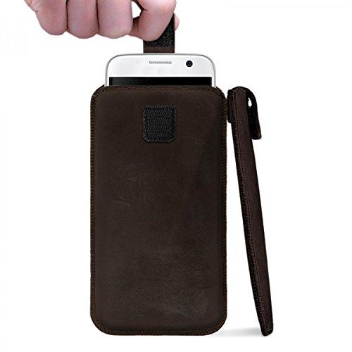 ROYALZ Universale Protezione Custodia per 5.1-5.5 Pollici Smartphones Sacchetto Astuccio Cover Caso Sleeve di Protezione Pelle Marrone