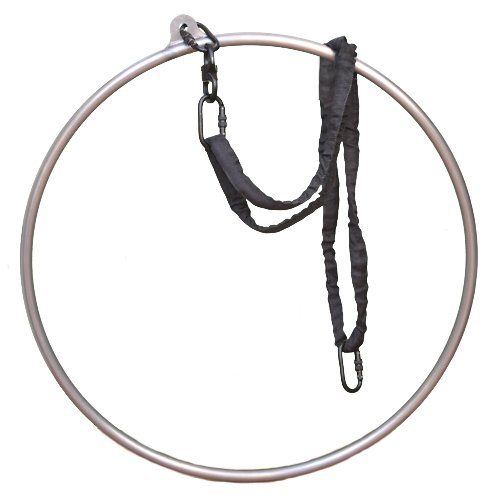 Best Buy! runner deer Complete Aerial Hoop/Aerial Rings Set,Include a Stainless Steel Lyra (32mm Wid...