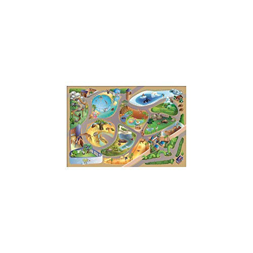 HOK - Tapis de Jeu - Zoo Multicouleur - 100 X 150 cm - Made in Europe
