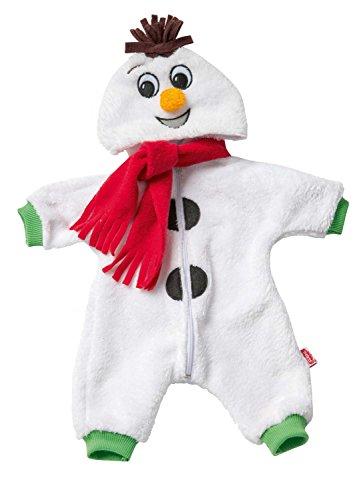 Heless 1098 - romper voor poppen, knuffelige sneeuwman, maat 28 - 35 cm