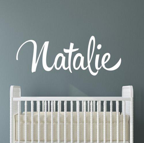 Lovely Decals World Nom Autocollant Mural Chambre d'enfant personnalisée Fille Décoration Chambre à Coucher Initiale Lettrage