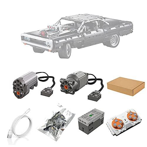 BrickSpiel Motoren und Fernbedienung Set für Lego 42111 Technic Dom's Dodge Charger, Upgrade Zubehör für Lego Technik 42111(Nicht Enthalten Lego Modell)