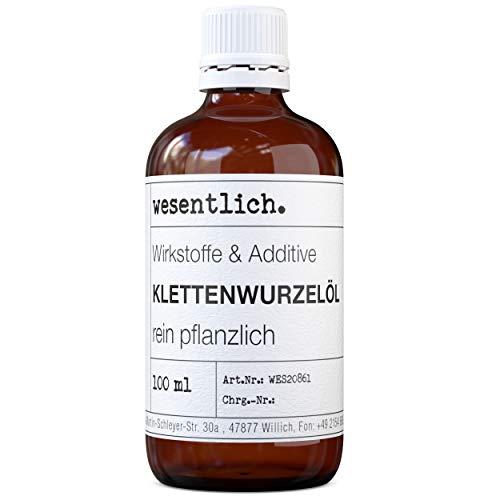 Klettenwurzelöl (100ml) - rein pflanzlich - natürliche Pflege für Haut, Haare und Wimpern von...