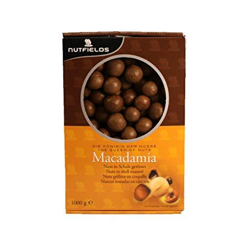 Nutfields - Macadamia-Nüsse in Schale geröstet| 1kg Nachfüllpack