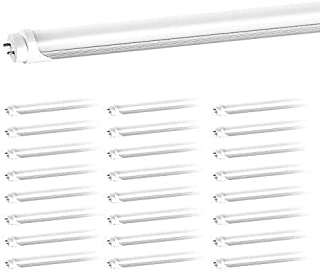 T8 LED Replacement, HouLight 25-Pack, 18W 4-Foot T8 LED Light Tube, 6000K, Daylight, Super Bright White, Double End Power,...