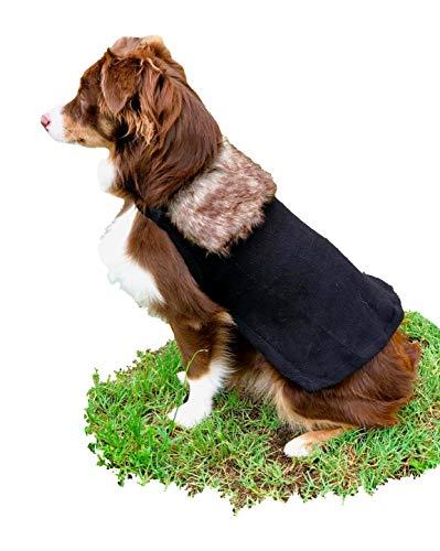 ComfyCamper Winter Lord Dog Costume Fur Cloak, XL