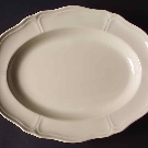 "Queen's Plain 9"" Oval Vegetable Bowl by Wedgwood 