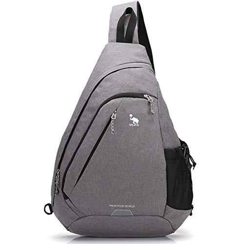 OIWAS Brusttasche Herren Sling Bag große Umhängetasche Damen Motorrad Rucksack Schultertasche Crossbody Sporttasche Bodybag Slingbag für Outdoor Fotografie Wandern Radfahren und Reisen 18L