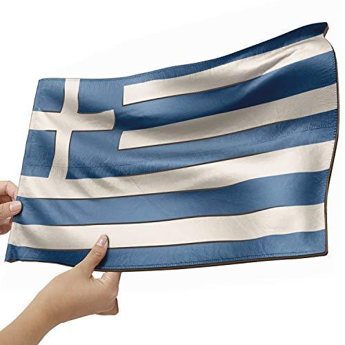 Griechenland Flagge als Lampe aus Holz - schenke deine individuelle Griechenland Fahne - kreativer Dekoartikel aus Echtholz
