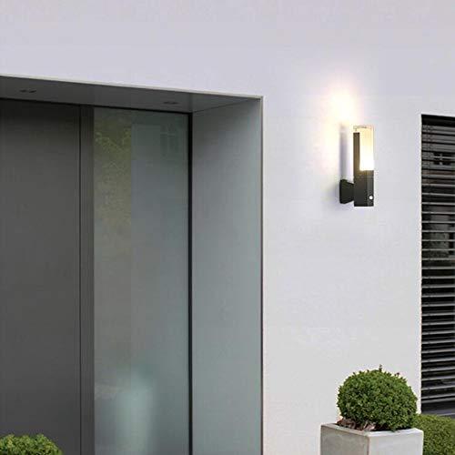SOLDAY LED Auß enwandleuchte Wandleuchte Badlampe Wasserdichte Design Auß enleuchte Wandleuchte Wandleuchte Innen Aussen Modern Aussenwandlampe Wandlampe für Badzimmer Schlafzimmer Wohnzimmer Treppen