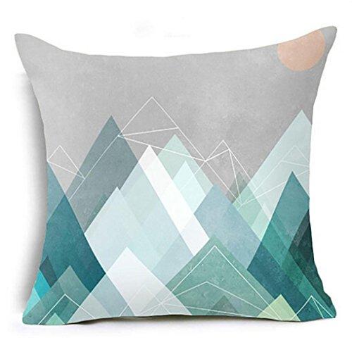 Kissenbezug Hevoiok Home Deko 45x45cm Kissenhülle Geometrische Muster Textur Super weich Kissenüberzug Design Taille Kissen Abdeckung Sofa Zuhause Dekor (Blau G)