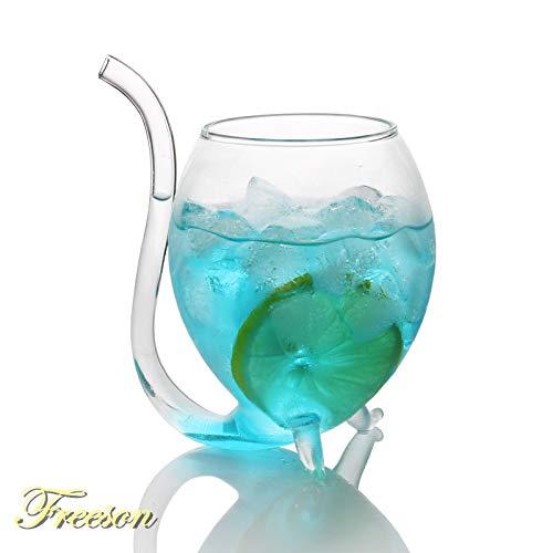 Creative duivel drank cocktail glas met stro glas glazen whisky glas witte wijn 300ml glas bier glas sap