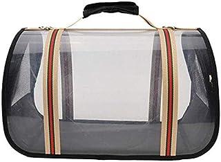 MAOSHE Pet Bag, Plus Size Backpack Travel Striped Transparent Portable Bag PVT Portable Storage Bag Transparent Breathable...