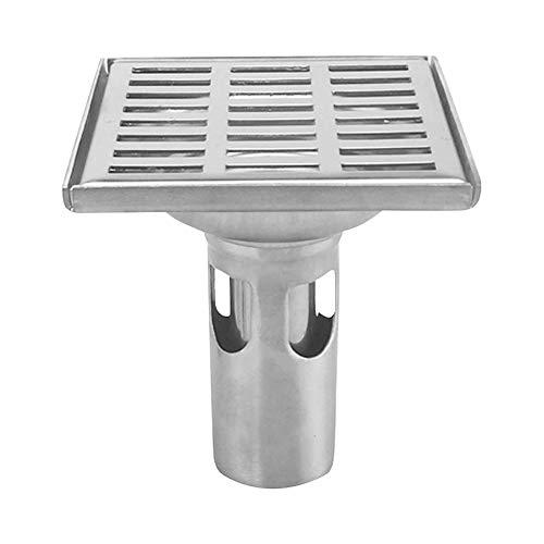 Gtagain Quadrat Bodenablauf mit Abnehmbar Abdeckung - Edelstahl Dusche Boden Abfluss mit Ablauf Schutz für Badezimmer Toilette Wäscherei Garten Außen Küche