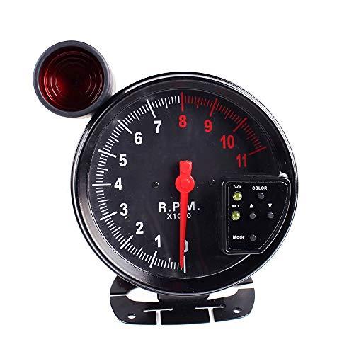 YIBANG-DIANZI Tacómetro Colorido de 5 Pulgadas Tacómetro for automóvil Tacómetro for Motocicleta 0-11000 Tacómetro