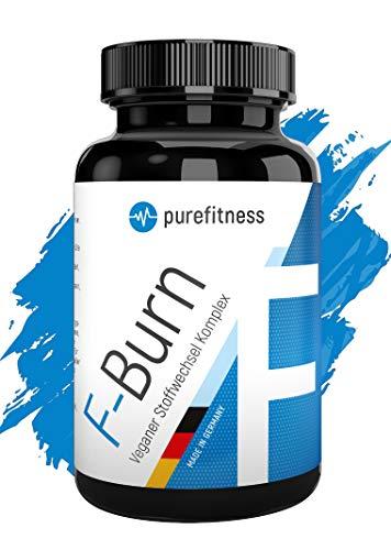 Purefitness F-BRN Veganer Stoffwechsel Komplex mit Koffein & Grüntee I 100 stark dosierte Kapseln für 100 Tage I Für Frauen & Männer I Laborgeprüft I Abnehmen