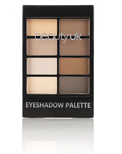 Beauty UK PRO HI-TECH Maximum Intensity and Long-Lasting Formula - Professional Eyeshadow Palette no.1 for Warm Neutral/Nude Makeup, Natural Beauty