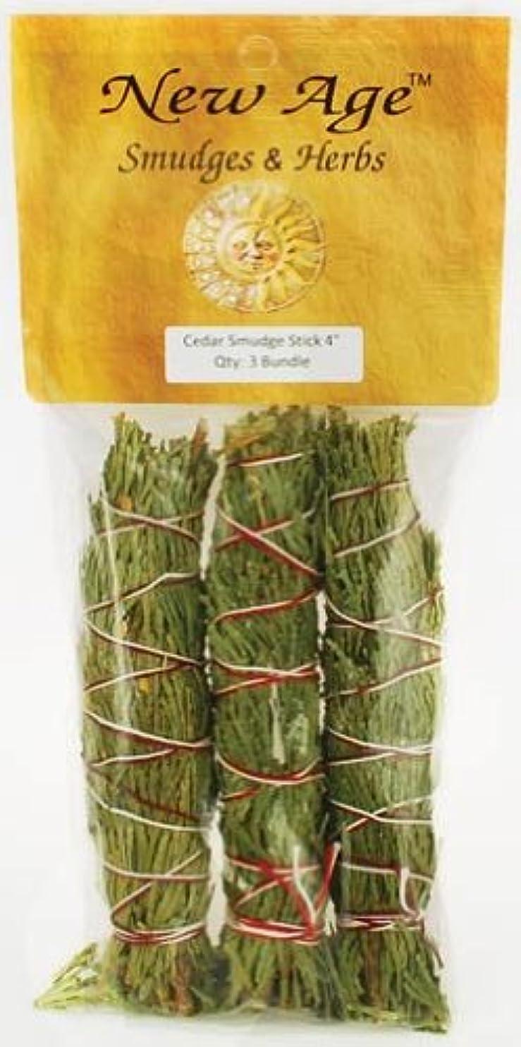 充実香ばしい植物のCedar smudge stick 3?- Pack