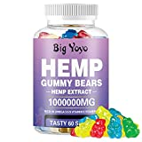 ✅ORGANIC HEMP GUMMIES - Our Hemp Gummies made from organic hemp. it's a perfect choice for combating insomnia, anxiety, depression, nausea and more. Promotes restful sleep to enhance brain function and energize your mind. ✅60 Counts 1,000,000MG Hemp ...