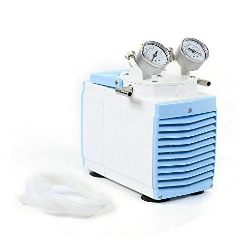 Oil Free Diaphragm Vacuum Pump Oil-Free Piston Vacuum Pump ≥0.08Mpa 30L/min High Flow Vacuum Pump Pressure Adjustable Portable for Vacuum Filtration Lab Tool 110V 160W