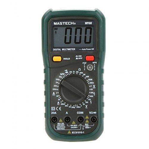 MASTECH MY60 DMM-Multimetro digitale AC/DC, voltmetro e amperometro Ohmmeter hFE w/prova