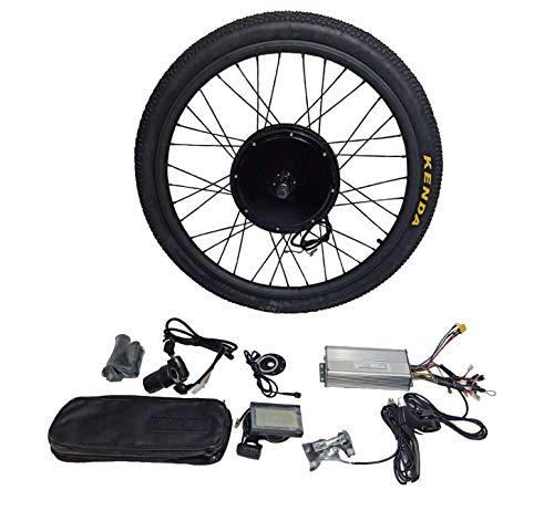 theebikemotor 48V1500W Cassette Motor Electric Bike Bicicleta ELÉCTRICA Kit DE CONVERSIÓN 8 Or 9 Or 10 Speed Gear + Tire + LCD Display (26, Rear Wheel + 8 Speed Gear)