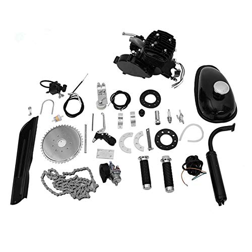 "Wycnly 80cc Bicycle Engine Kit,80cc Motorized 2-Stroke Upgrade Bike Conversion Kit,DIY Petrol Gas Engine Bicycle Motor Kit Set for 24"", 26"" and 28"" Bikes"