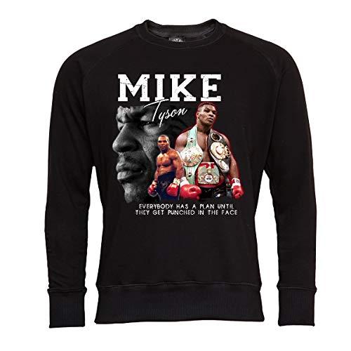 Rule Out Kinder Sweatshirt.Mike Tyson. Boxen. Boxchampion. Shwarz. Crewneck. Casual (Größe XLarge)