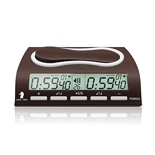 Leap PQ9903A Reloj de ajedrez Digital multifunción Wei Chi Count Up Ajedrez Temporizador de Alarma Reloj Temporizador de ajedrez para Juegos