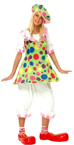 P' tit Clown – 86045 – Costume adulto clown donna con Ring – Taglia unica