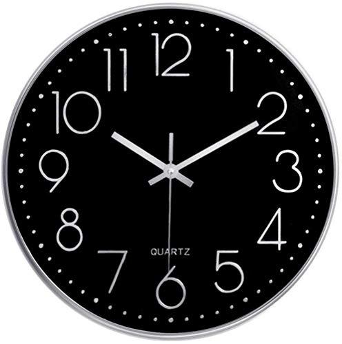 Taodyans Horloge murale silencieuse 30,5 cm sans tic-tac Horloge de cuisine 30 cm Fonctionne avec piles rondes et modernes à suspendre pour bureau, salle de classe, salon, chambre à coucher