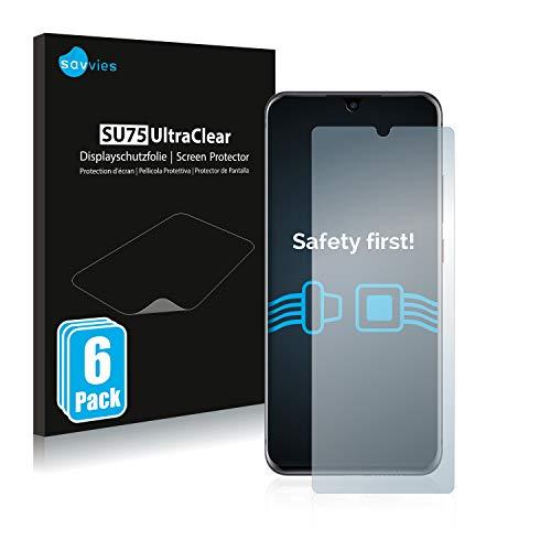 Savvies 6X Schutzfolie kompatibel mit ZTE Axon 11 4G Bildschirmschutz-Folie Ultra-transparent