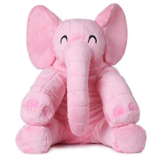 corimori® - Elefant Mara, großes XXL Kuscheltier 60 cm für Kleinkinder, bauschig und weich, kuschel-softe Qualität, pink