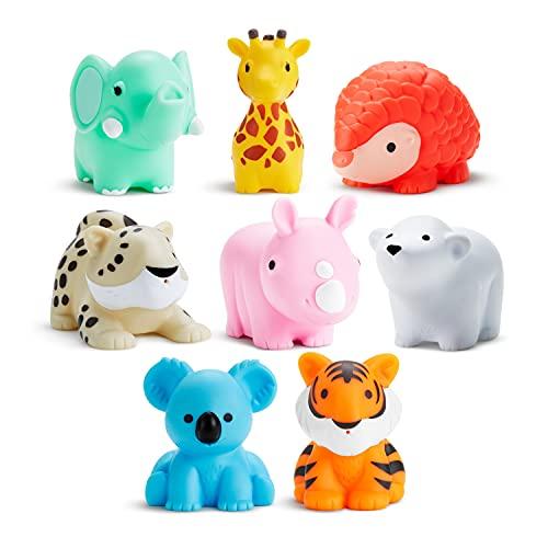 Munchkin Wild Animal Bath Toy Squirts, 8 Pack