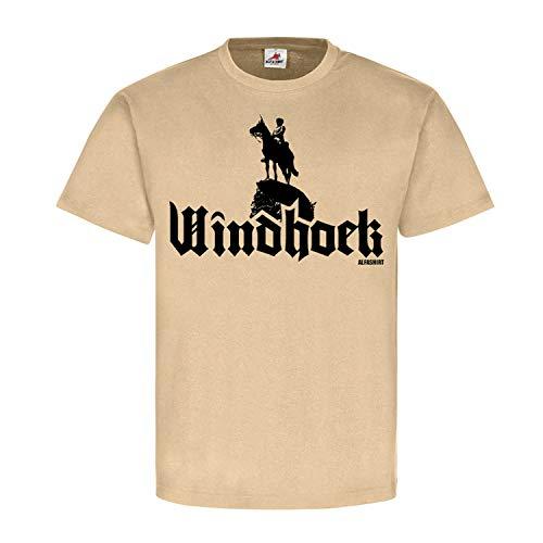 Windhoek Deutsch Südwestafrika Reiter DSW Namibia Schutztruppen T Shirt #18599, Größe:L, Farbe:Sand