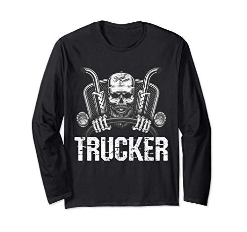 Camionero cráneo camión diesel conductor de camión Manga Larga