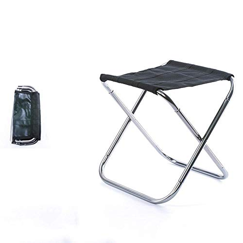 ZXT Chaise De Pliage Extérieure En Alliage D'aluminium De Camping Chaise De Tabouret De BBQ Tabouret Pliant Portable Voyage Train Chaise (Couleur : Silver)