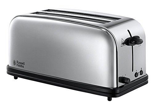 Russell Hobbs 23520-56 2-Schlitz-Langschlitz Victory Toaster (2 extra breite Langschlitzkammern für 4 Toastscheiben, inkl. Brötchenaufsatz, 6 einstellbare Bräunungsstufen und Auftaufunktion, 1600W)