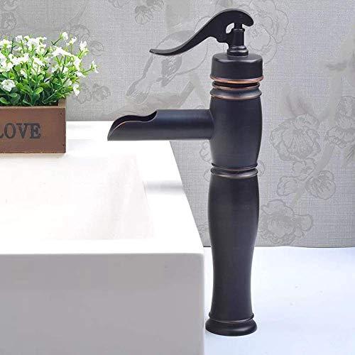 NBVCX Piezas mecánicas Mezcla de Agua Caliente y fría Herrajes de fontanería Lavabo Moda Creativa Grifo de Lavabo de un Solo Orificio Hermoso práctico