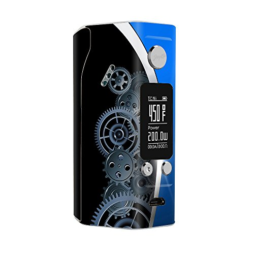 Skin Decal Vinyl Wrap for Wismec Reuleaux RX200S Vape Mod Skins Stickers Cover / Mechanical Gears Motion