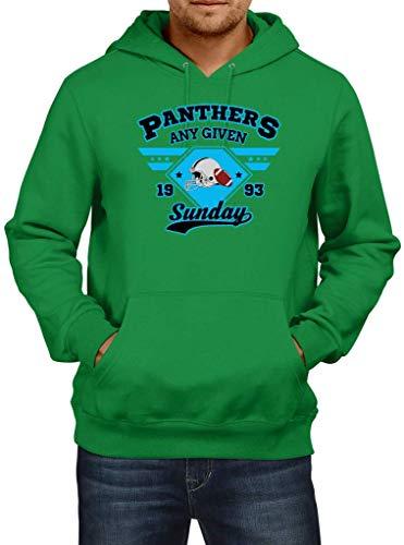 Preisvergleich Produktbild Shirt Happenz Panthers Any Given Sunday American Football Super Bowl Premium Hoodie Herren Kapuzenpullover,  Größe:XXL,  Farbe:Hellgrün