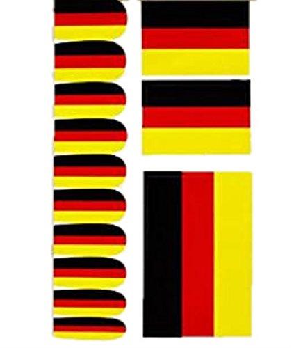 HAAC Nagelaufkleber Nagel Hautaufkleber Set in Deutschlandsfarben Deutschland Fußball 2018