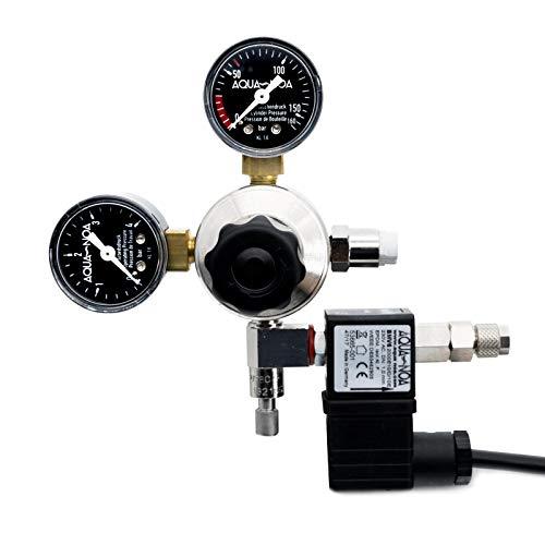 Réducteur de pression de CO2 professionnel avec insert AQUA-NOA Valve magnétique avec clapet anti-retour.